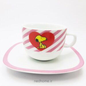 فنجان و نعلبکی سرویس کودک اسنوپی