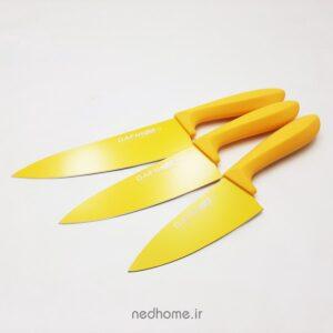 چاقو تک آشپزخانه تیغه کربن زرد دافنی