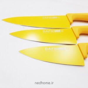 چاقو آشپزخانه تیغه کربنی زرد دافنی