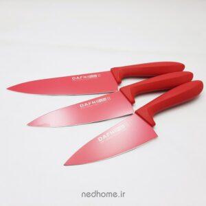 چاقو آشپزخانه تیغه کربن قرمز دافنی