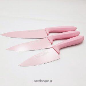 چاقو تک آشپزخانه تیغه کربن صورتی دافنی