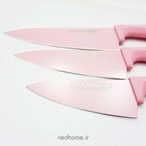 چاقو تک آشپزخانه کربنی صورتی دافنی